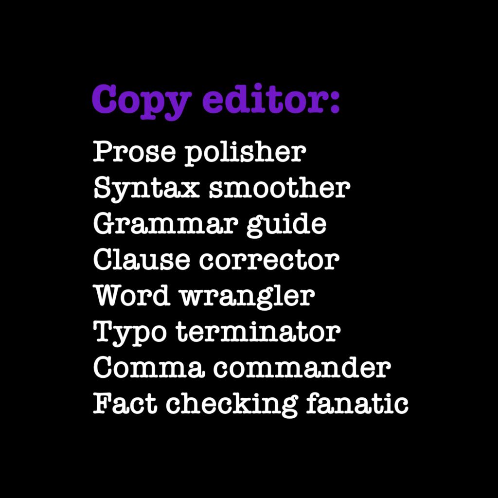 Copy editor def