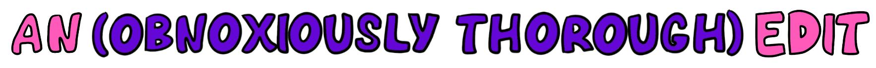 An Edit banner